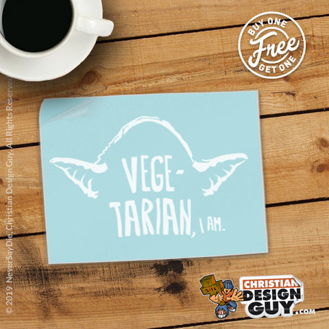 Vegetarian I Am ( Yoda ) | Decal Car Sticker