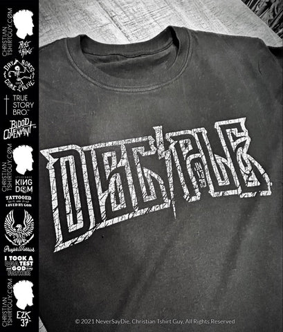 DISCIPLE™ Brand Distressed -  | JOHN 13:35 Christian T-shirt