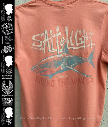 Salt & Light - Riding the Waves | Matthew 5:13 CHRISTIAN T-SHIRT