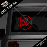 Love Saves | Christian Decal Car Sticker