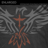 Isaiah 40:31 Tribal Eagle Verse | Men's Christian T-Shirt