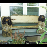 Chainsaw Carved Bear Bench - chainsaw carvings made in Colorado