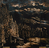 Cabin in the Snow Charred Art