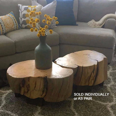 Ellen-style Log Coffee Table - stump table, stump stool, log end table, log table, log stool, rustic decor, rustic home decor, rustic decor