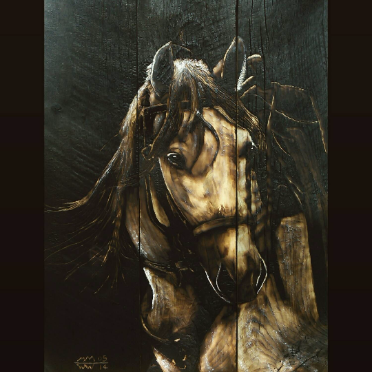 Charred Wood Horse / Equine Art
