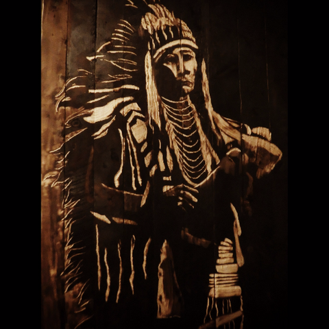 Native American Charred Art