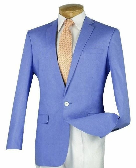 Vinci Slim Fit Blazer (Blue) BLS-01