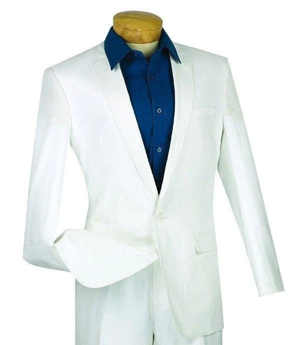 Vinci Slim Fit Blazer (White) BLS-01