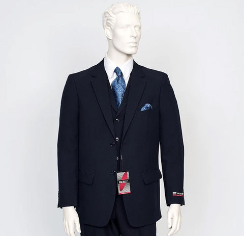 Pacelli 3pc Navy Suit CAMERON-10001