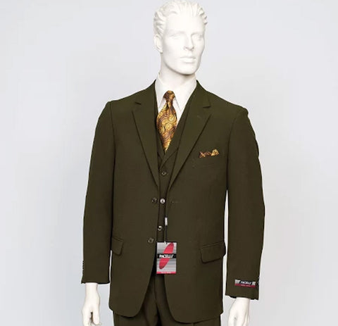 Pacelli 3pc Green Suit CAMERON-10004