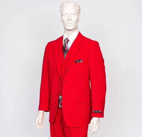 Pacelli 3pc Red Suit CAMERON-10008