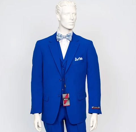 Pacelli 3pc Royal Blue Suit CAMERON-10011
