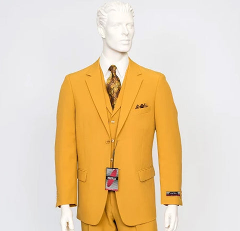 Pacelli 3pc Mustard Suit CAMERON-10027