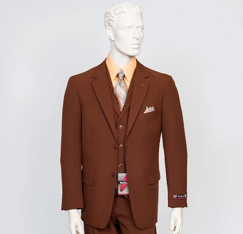 Pacelli 3pc Light Brown Suit CAMERON-10052