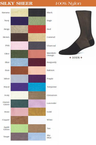 Knee High Sheer Dress Socks 101S