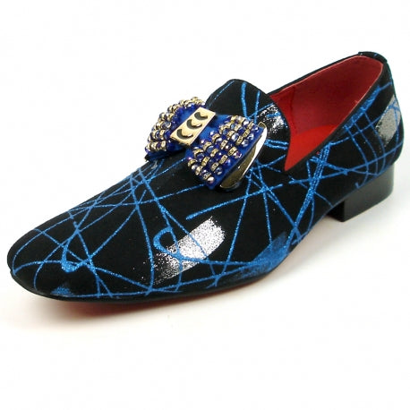 FI-7426 Black Blue Slip on Fiesso by Aurelio Garcia