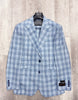 Tiglio Luxe Prosecco Baby Blue Plaid Modern Fit, TLS20030/1, Pure Wool Suit & Vest