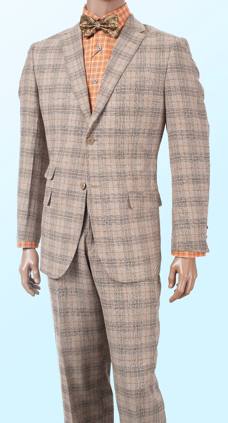 Inserch Linen Suit 660118-09 Khaki