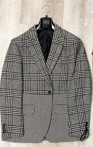 Inserch Check and Houndstooth Combo Blazer BL250-41