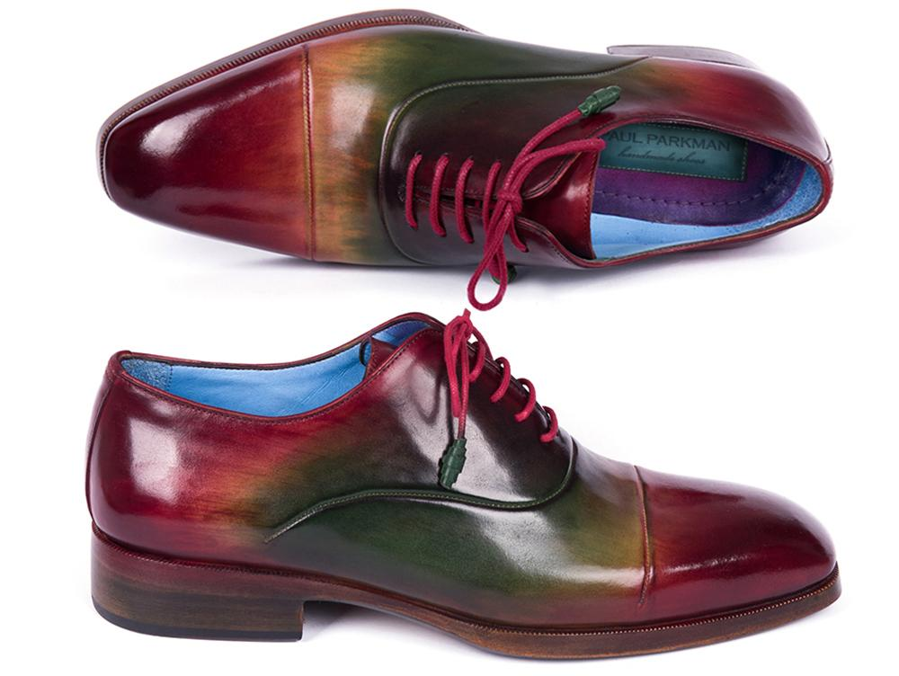 Paul Parkman Men's Captoe Oxfords Multicolor (ID#1744-MLT)