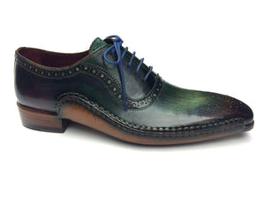 Paul Parkman Green & Purple Handmade Oxfords - OPK215C