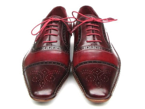 Paul Parkman Handsewn Captoe Oxfords Red Bordeaux - 5032-BRD