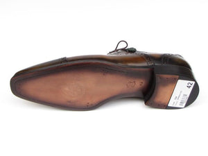 Paul Parkman Captoe Oxfords Camel & Olive Shoes - 024-OLV