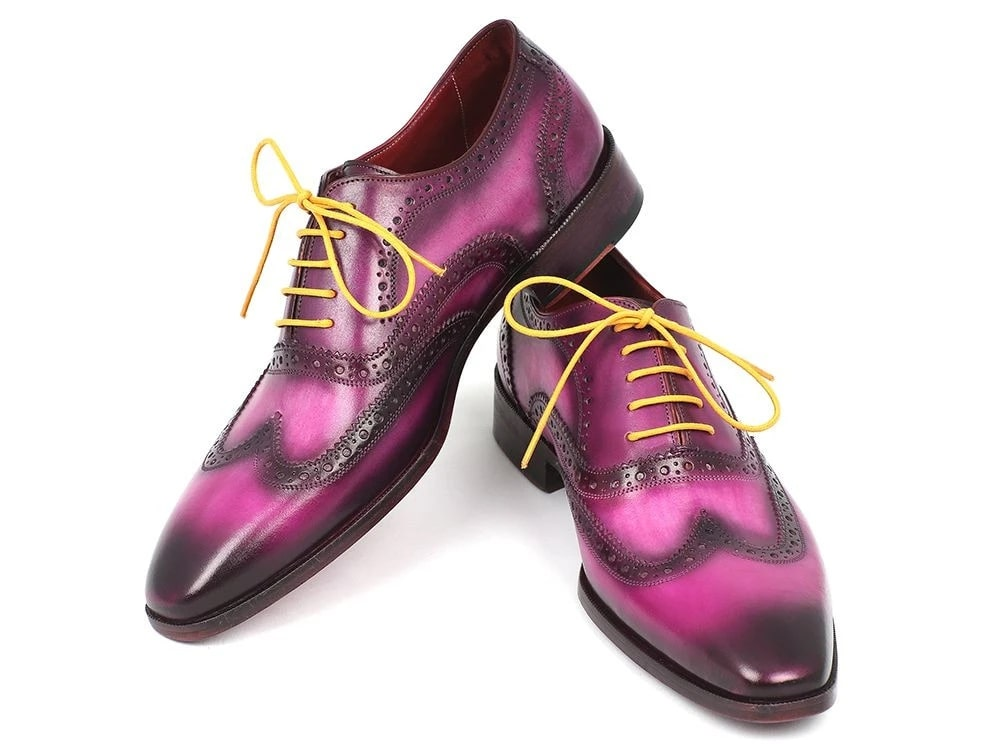 Paul Parkman Wingtip Oxfords Lilac Handpainted Calfskin - 228-LIL
