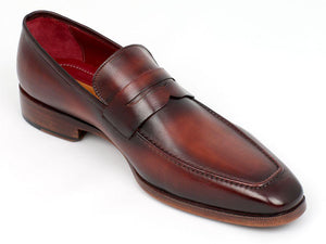 Paul Parkman Penny Loafer Bordeaux and Brown Calfskin - 10FD61