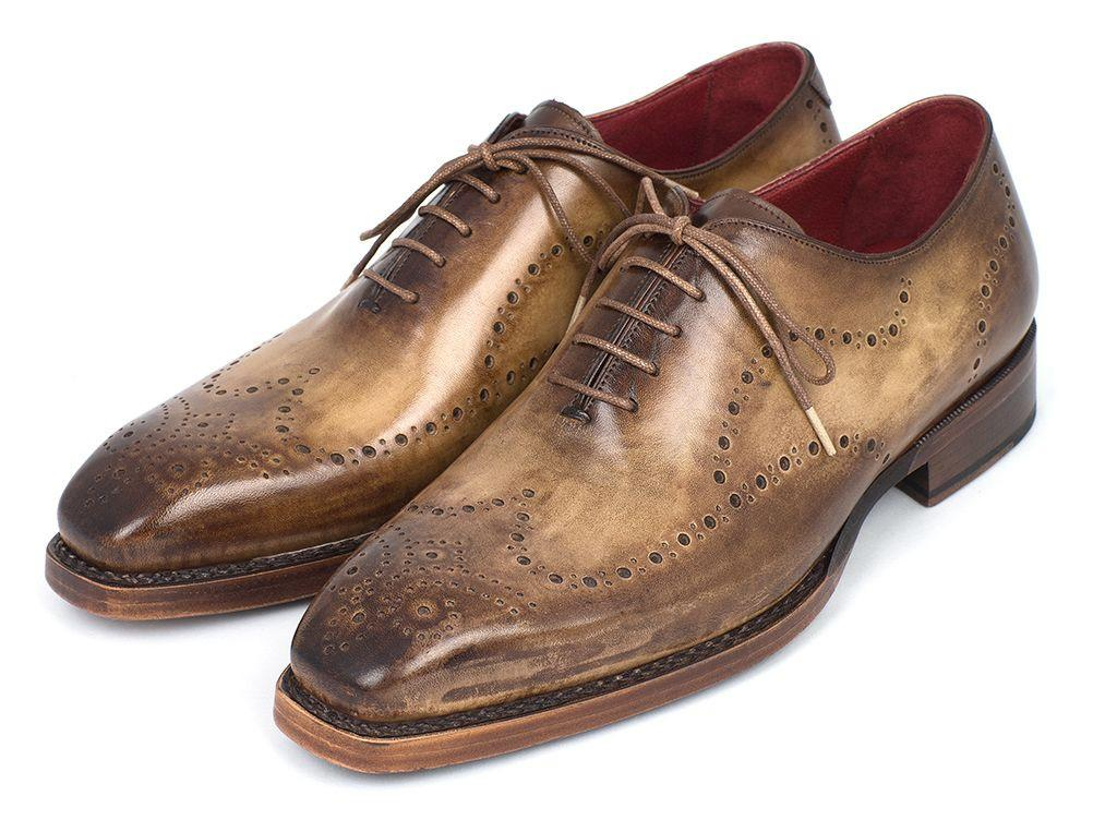 Paul Parkman Goodyear Welted Wingtip Oxfords Antique Olive - 87OLV54