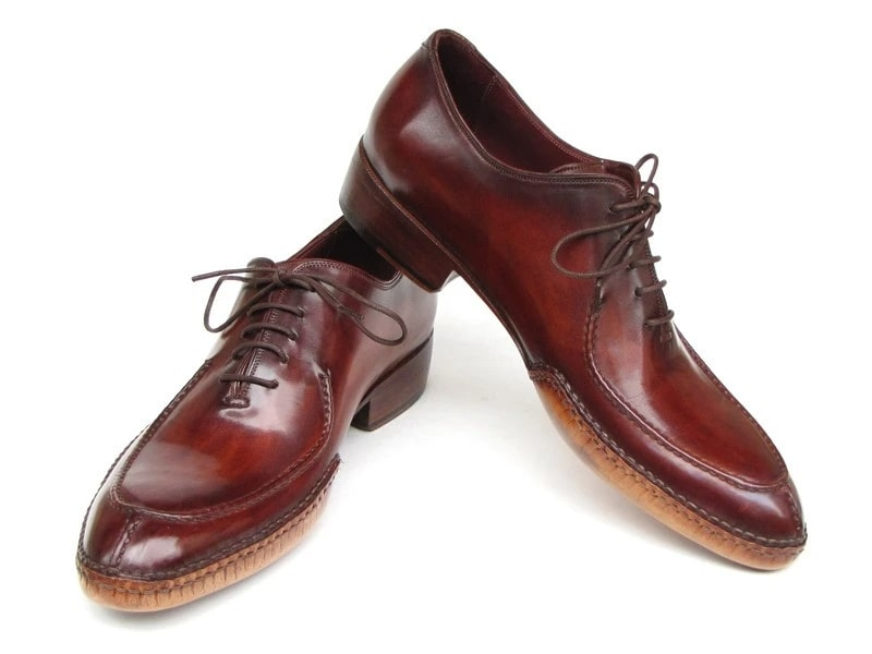 Paul Parkman Side Handsewn Split-toe Burgundy Oxfords - 054-BUR