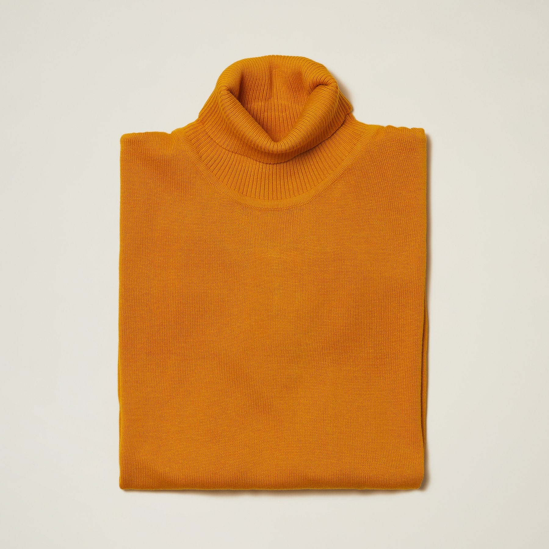 Inserch Cotton Blend Turtleneck Sweater Mustard