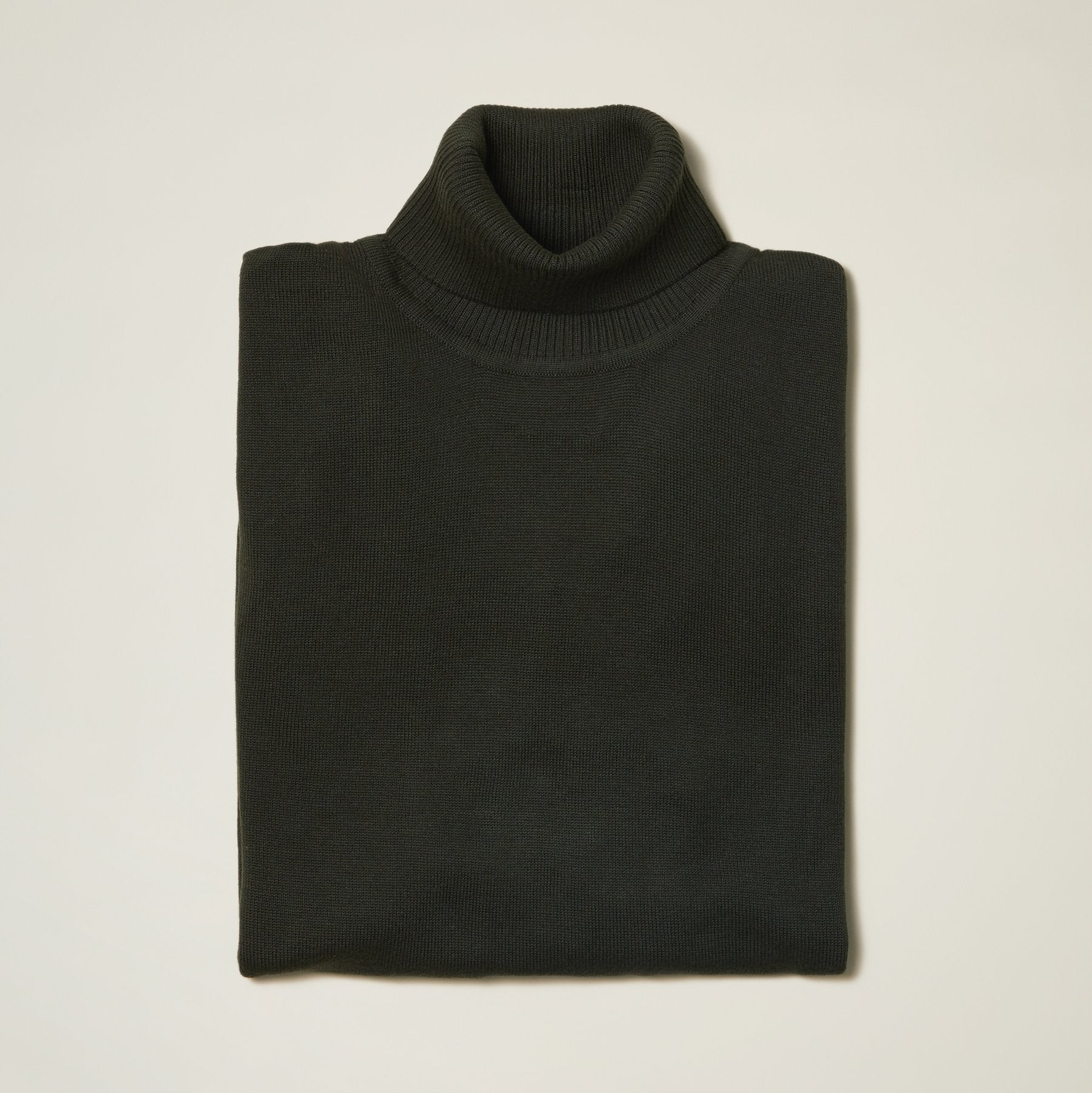 Inserch Cotton Blend Turtleneck Sweater Forest Green