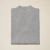 Inserch Cotton Blend Mock Neck Sweater Grey
