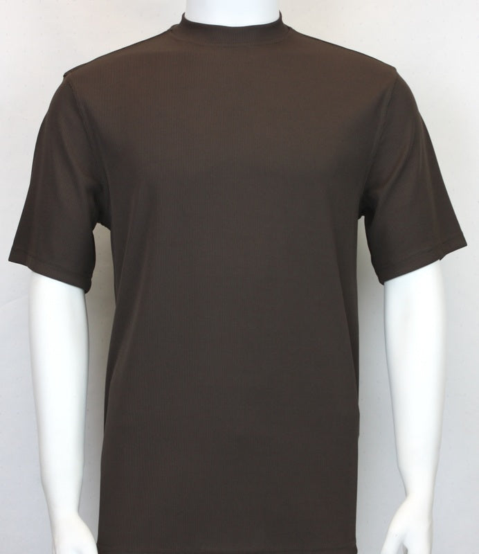 Bassiri S/SL Mock-Neck (218BROWN)