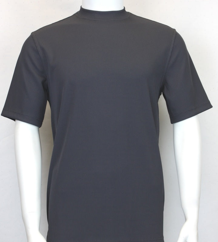 Bassiri S/SL Mock-Neck (218CHARCOAL)
