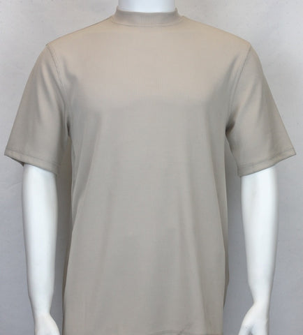 Bassiri Ribbed S/SL Mock-Neck (526CREAM)