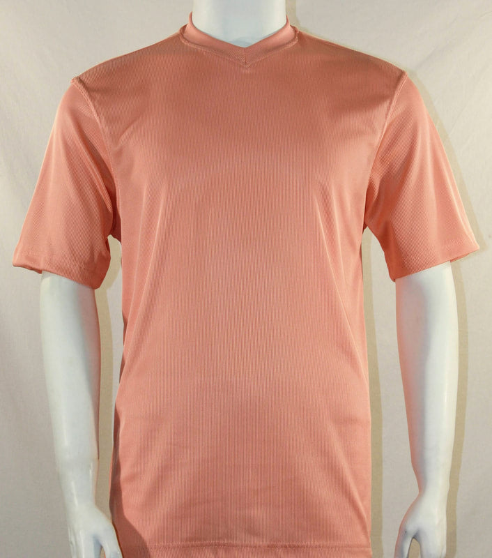 Bassiri S/S V-Neck T-Shirt (Peach)