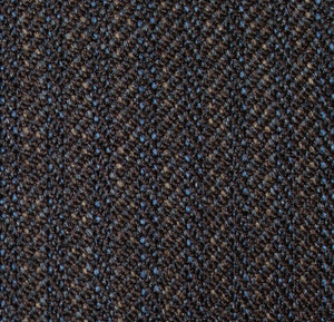 Montefino Wool Brown/Blue Pinstripe 43746