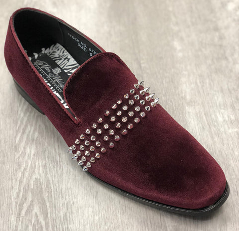 Midnight Formal Shoe 6787 Burgundy/Silver