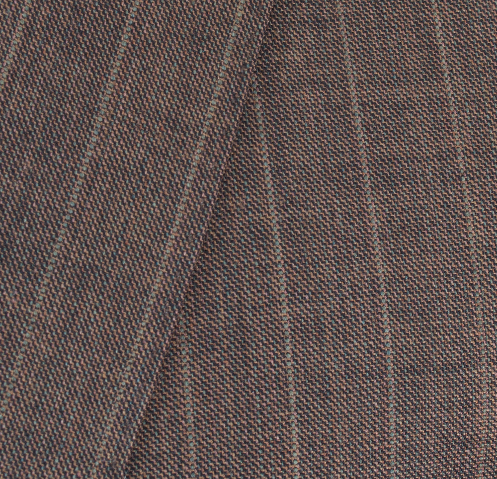 Ideal by Zanetti Modern Fit Brown Pinstripe 24095-1