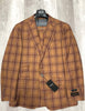 Tiglio Luxe Suit & Vest Barbera Light Rust with Teal/Brick Window Pane TL4118/2