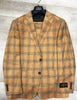 Canaletto Suit Dolcetto Vitale Barberis Canonico Light Rust with Brown Plaid CN44.9116/2
