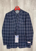 "Tiglio Rosso ""New Rosso"" Navy Plaid Wide Leg Pure Wool Suit & Vest T5071/1"