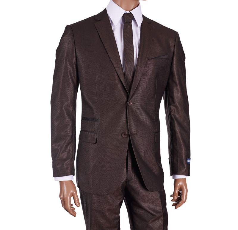 Inserch Copper Brown Sharkskin Modern Fit 513-40