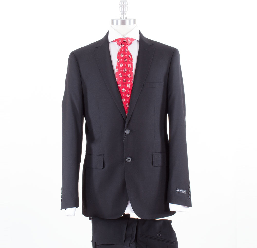 London Fog Black Suit L10001/1