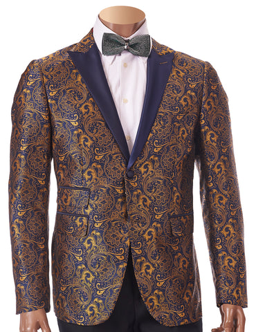 Inserch EZX Young Slim Fit Blazer 5262-152 Blue/Gold
