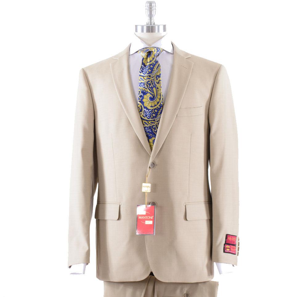 Mantoni Solid Khaki Suit 40901/11