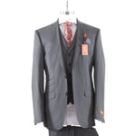 Tallia Orange 3pc Modern Fit Grey Herringbone VEDR3SJX0707