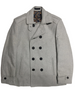 Inserch Double-Breasted Peacoat 593-04 Lt. Gray